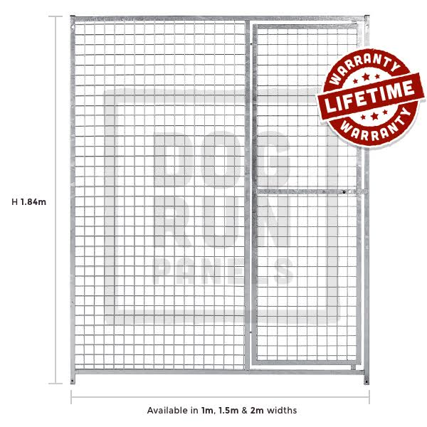 Galvanised Mesh Door Right Dog Panels