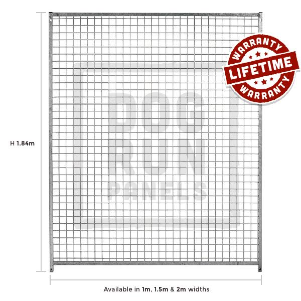 Galvanised Mesh Full Dog Run Panel