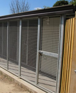 where to put dog run panels